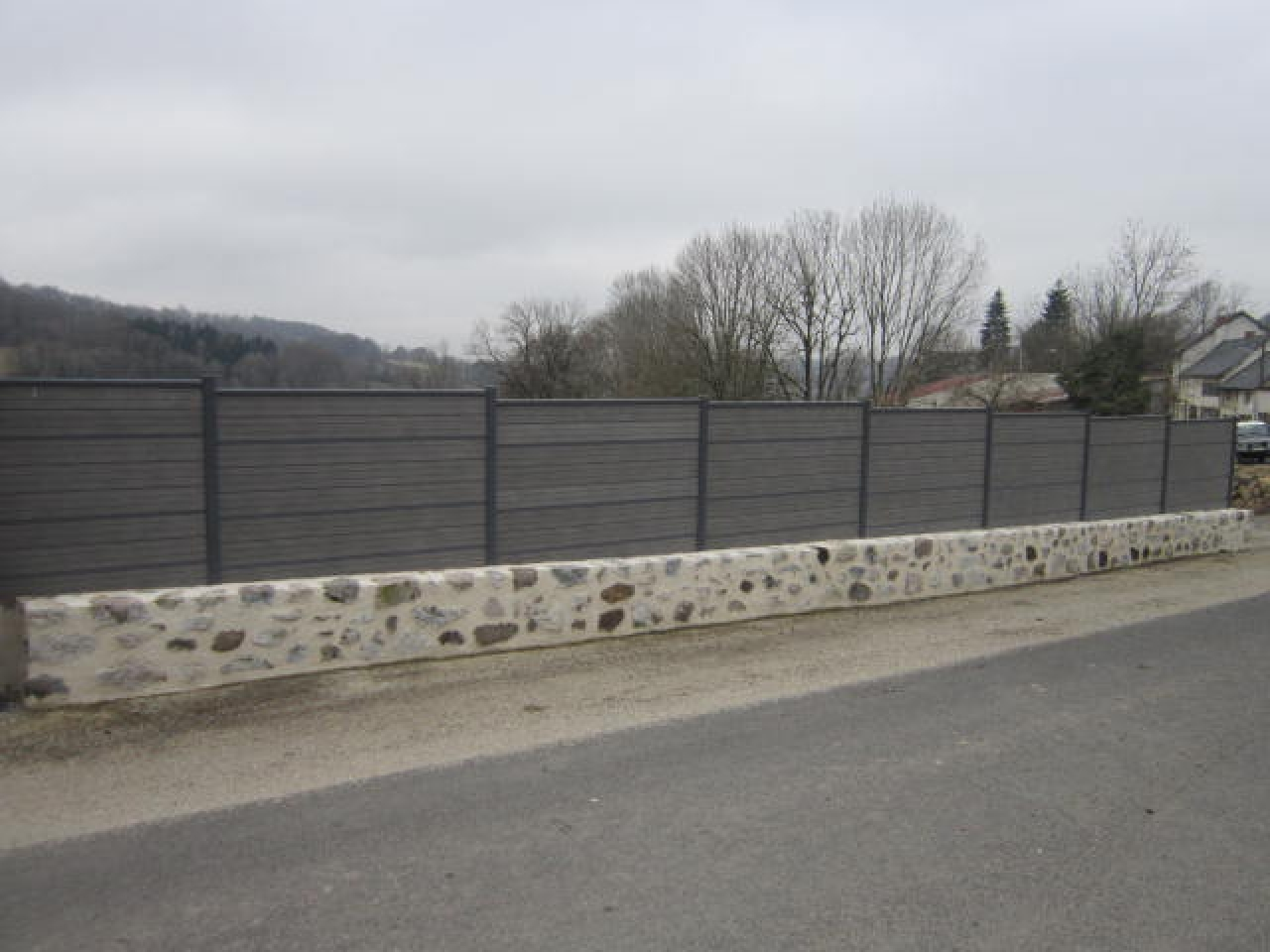 Construction cl tures aurillac cantal - Cloture sur muret ...